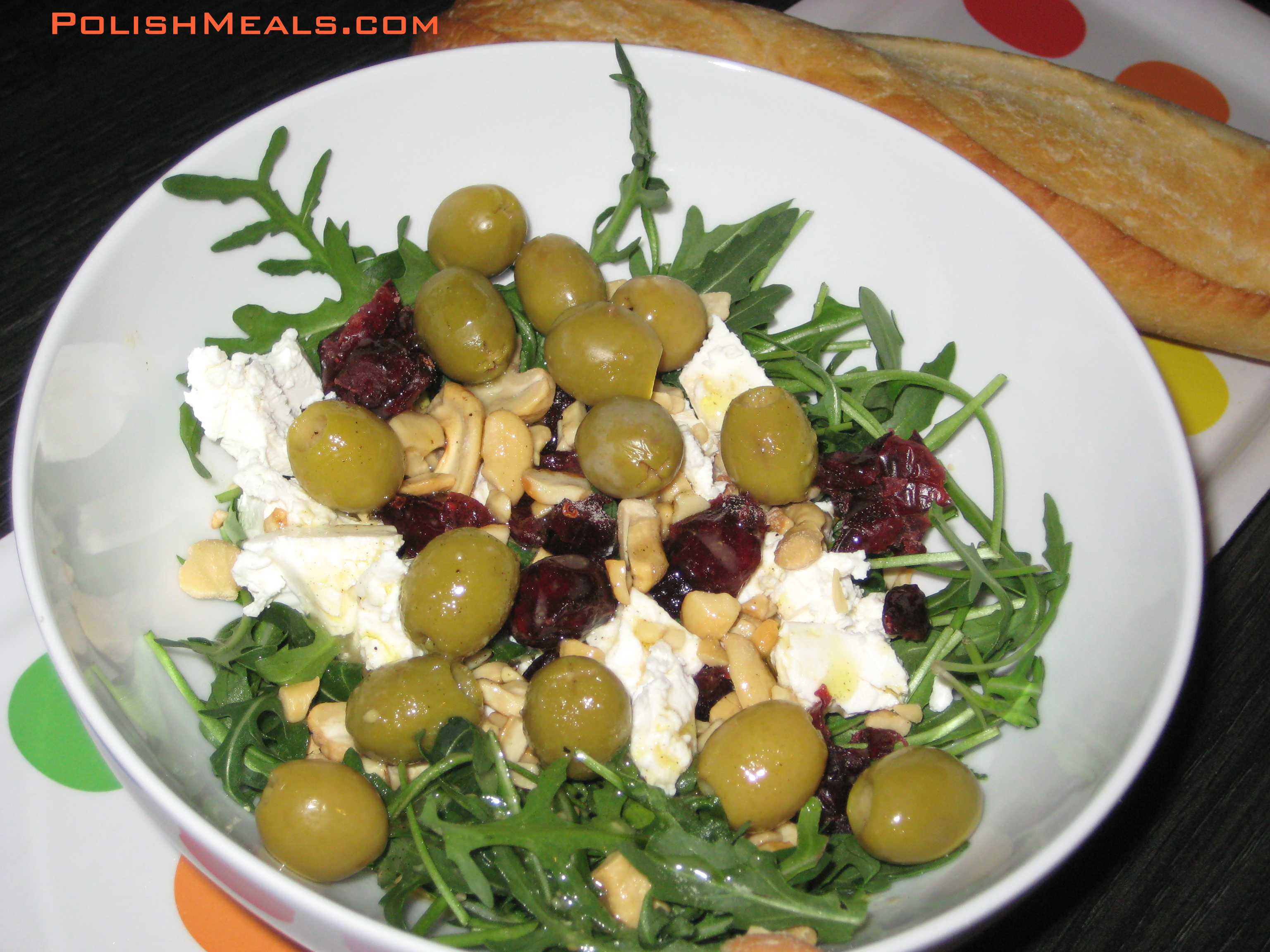 arugula with olives