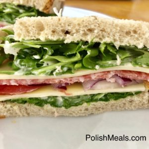 polish healthy sandwich
