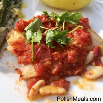 Garlic & Tomato Hake Fish
