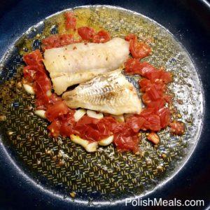 Garlic & Tomato Hake Fish 2