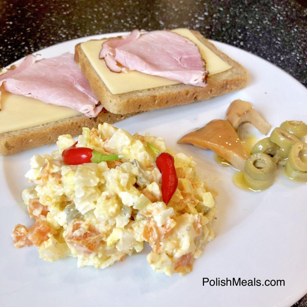 breakfast polish root vegetable salad